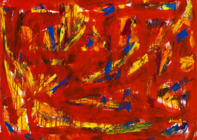 "Heartcore – Acrylic on Canvas, 48"" x 36"", 2002"